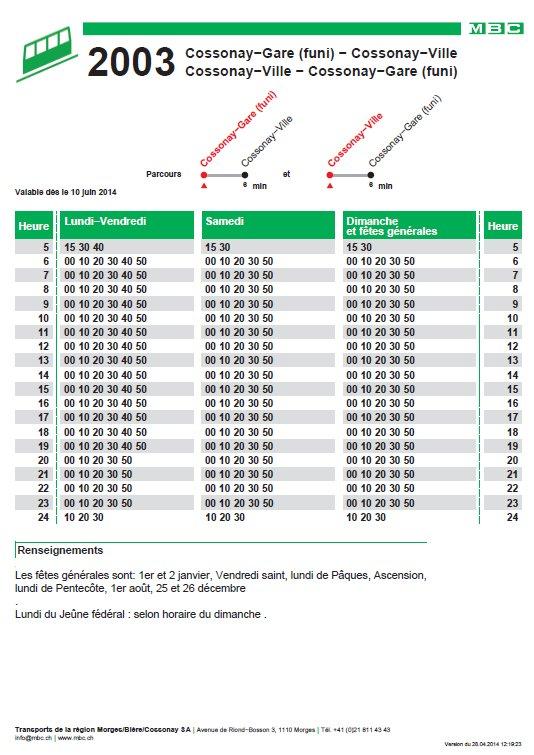 Le funiculaire de Cossonay Gare - Ville (VD, Suisse) (21-06-2014) Horaires
