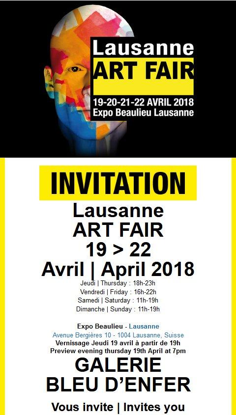 Du 19-04-2018 au 22-04-2018 : Expo EXPO ART FAIR - Lausanne (VD, CH)   2018-04_expo_Art_Fair_01