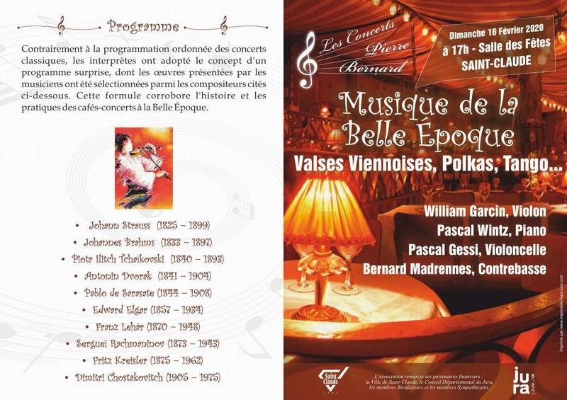 [39] - 2020-02-16 : Les Concerts Pierre-Bernard : Musique de la Belle Époque à St-Claude 2020-02-16_Concert_St-Claude_02