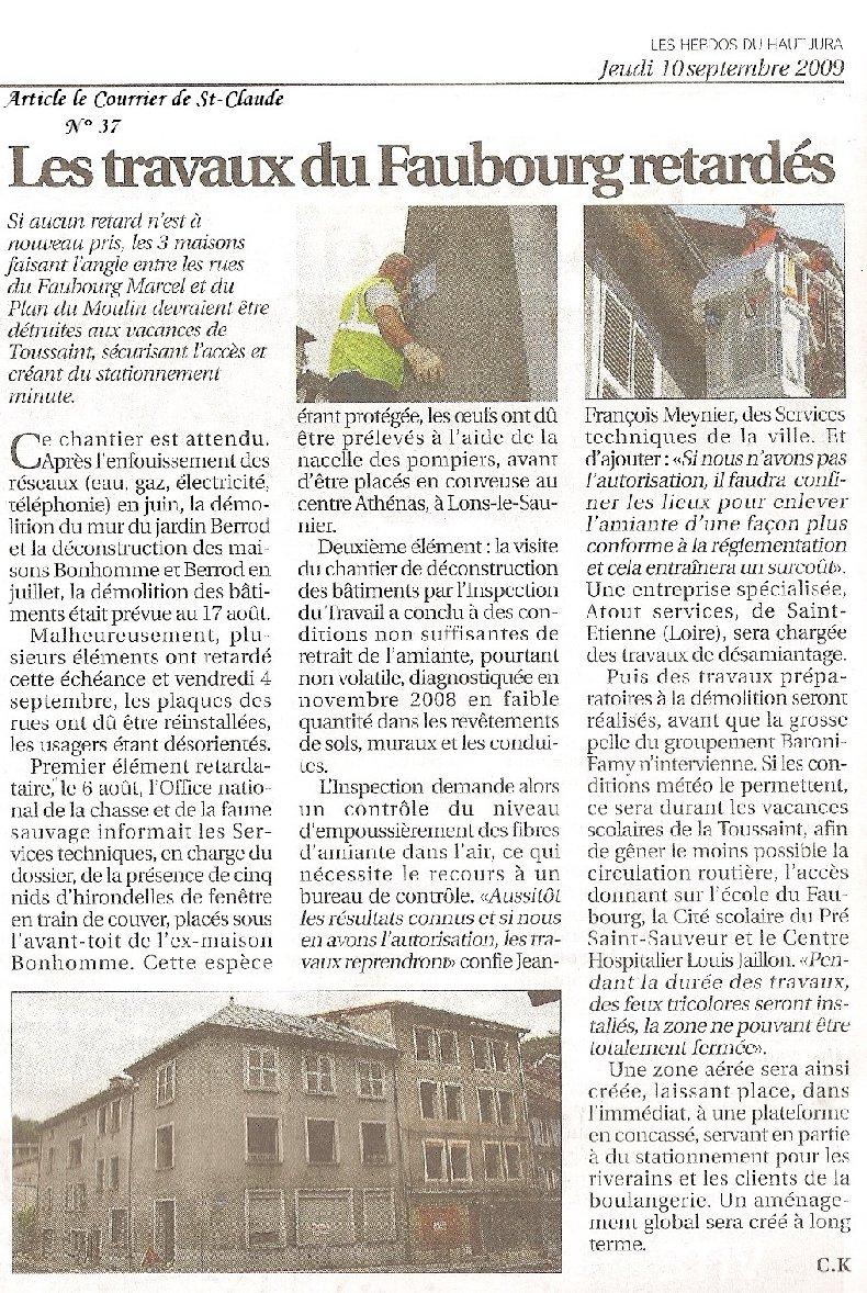 Démolition d'immeuble au Fb Marcel à St-Claude (39) 2009-09-10