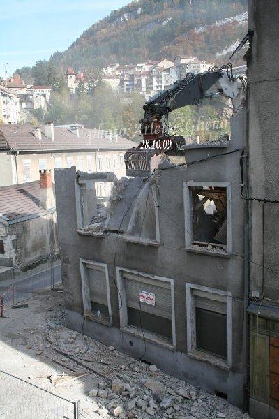 Démolition d'immeuble au Fb Marcel à St-Claude (39) Fbm_12