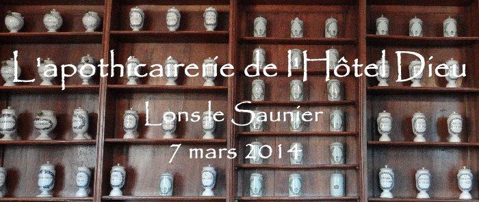 L'apothicairerie de l'Hôtel Dieu de Lons le Saunier- 7 mars 2014 Titre