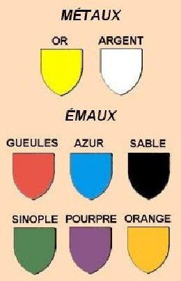 Le vocabulaire des couleurs en héraldique Herald.001