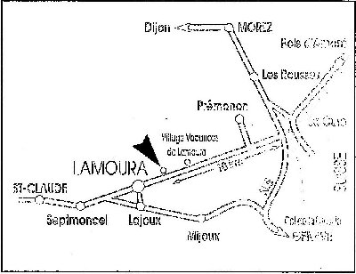 2006-12-12 : Bleu d'Enfer ou la Poterie Guibert à Lamoura (39) Plan