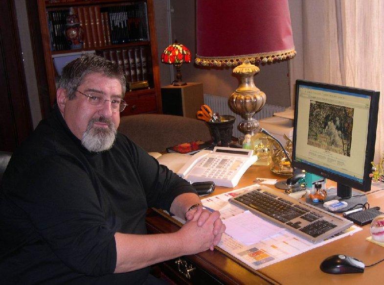 Photo du Webmaster lors de l'interview de La Voix du Jura Rjv