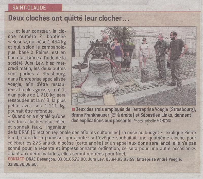 2017-07-12 : Descente de deux cloches de la cathédrale de St-Claude (39) 2017-07-13_cloches_01