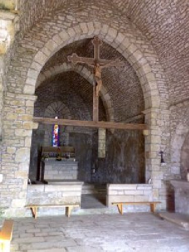 004 - St-Romain / Pratz (39) La chapelle de St-Romain de Roche 0008_a