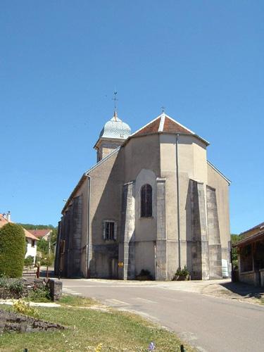 026 - St Maurice - Crillat (39) L'église de St Maurice et la chappelle St François de Sales 0331