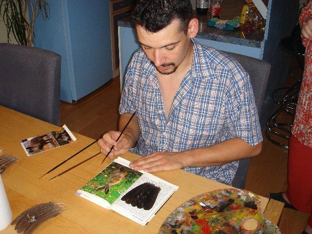 2006-06-06 : David Mayet - Peintre sur plumes. 0006