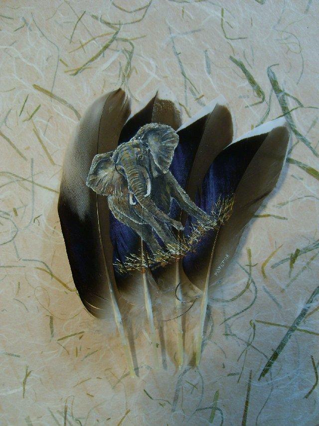 2006-06-06 : David Mayet - Peintre sur plumes. 001