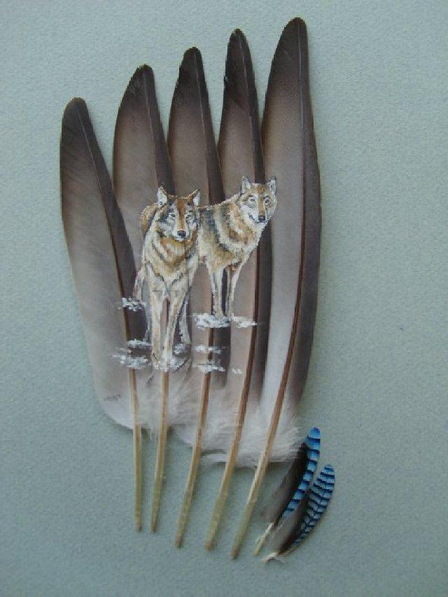 2006-06-06 : David Mayet - Peintre sur plumes. 002