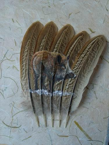 2006-06-06 : David Mayet - Peintre sur plumes. 0034