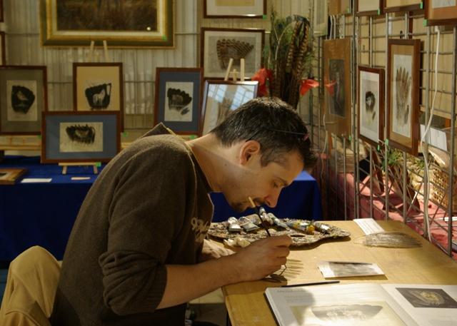 2006-06-06 : David Mayet - Peintre sur plumes. 9001
