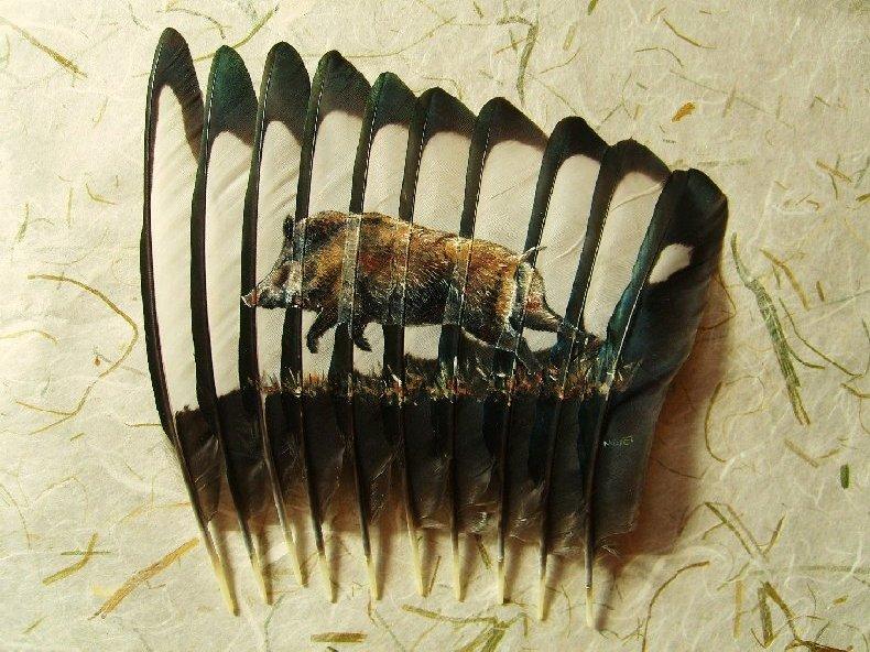 2006-06-06 : David Mayet - Peintre sur plumes. 9007