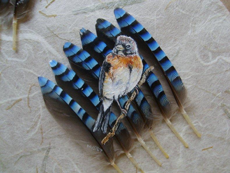 2006-06-06 : David Mayet - Peintre sur plumes. M1