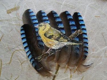 2006-06-06 : David Mayet - Peintre sur plumes. M4