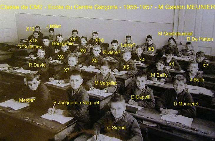 Quelques photos d'école - Classe 1966 - à Saint-Claude (39) 1956-1957_cm2_centre