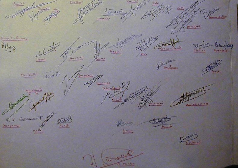 Quelques photos d'école - Classe 1966 - à Saint-Claude (39) 1960-1961_signatures