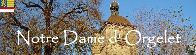 043 - Orgelet (39) L'église Notre Dame  Logo
