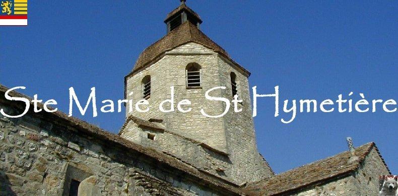 048 - St-Hymetière (39) L'église Ste Marie Logo