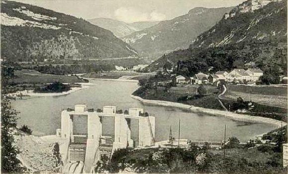 Le barrage d'Etables et la centrale de Porte-Sachet (39) 0001a