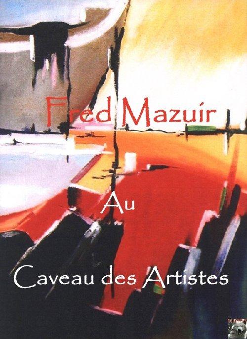 2008-01-10 : Fred Mazuir - Caveau des Artistes Affiche