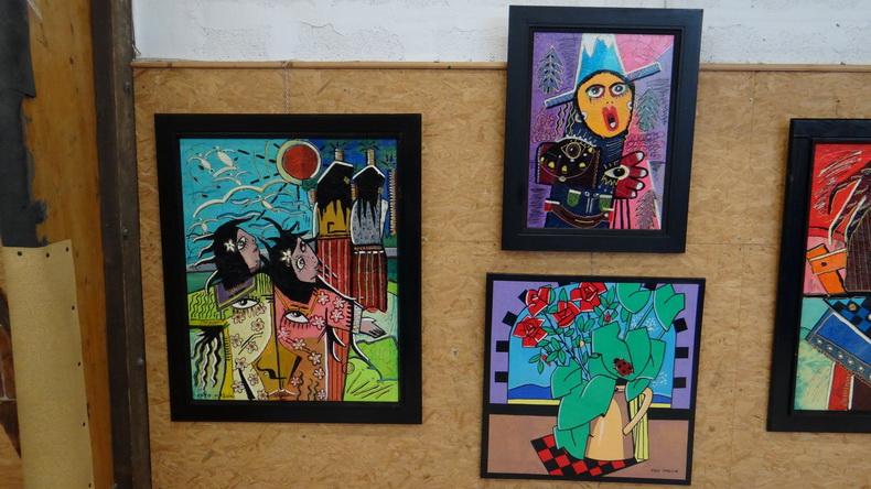 2015-08-01 : Exposition Fred Mazuir à Longchaumois (39) 073