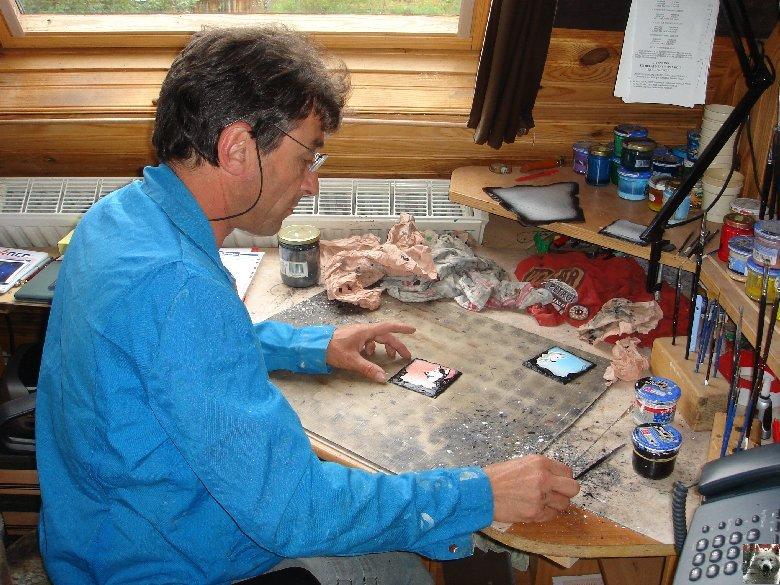2007-08-16 : Patrick Verdier peint sur ardoise, sur peau, sur carrosserie ... 0010