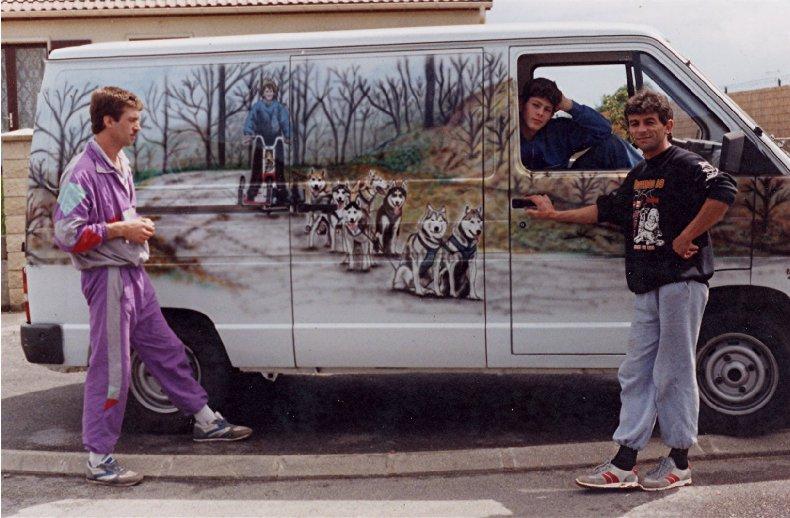 2007-08-16 : Patrick Verdier peint sur ardoise, sur peau, sur carrosserie ... 0016