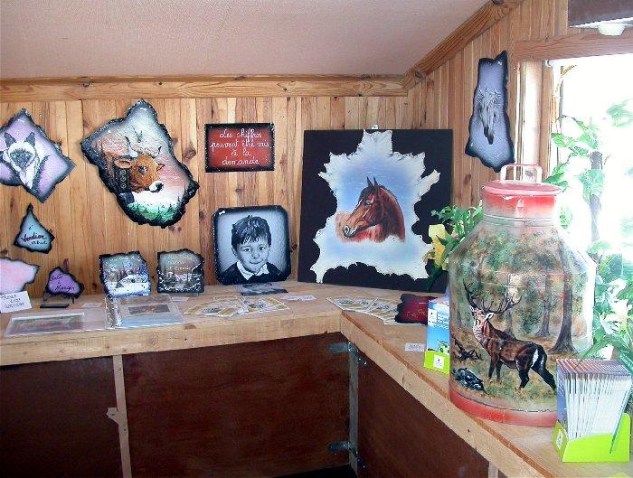 2007-08-16 : Patrick Verdier peint sur ardoise, sur peau, sur carrosserie ... 0020