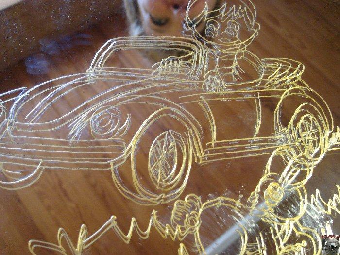 Valérie peint sur le verre - Ney (39) 10 juin 2008 0015