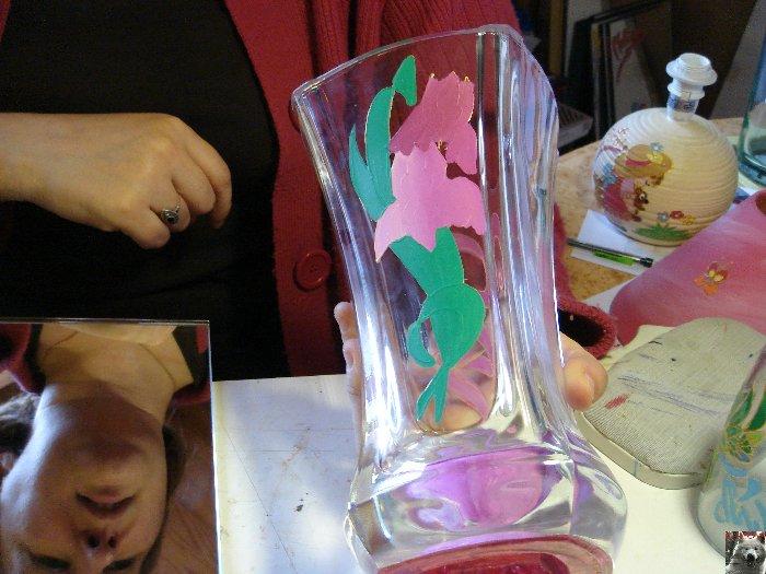 Valérie peint sur le verre - Ney (39) 10 juin 2008 0017