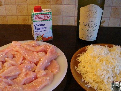 Emincé de poulet - Sauce au Comté et au blanc du Jura 0001
