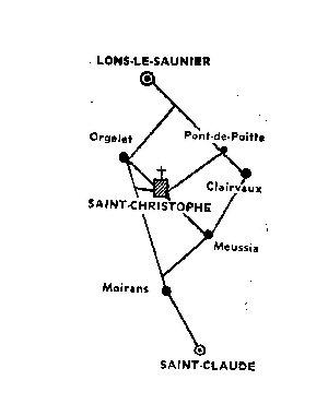 044 -Saint-Christophe (39) La prieurale Carte
