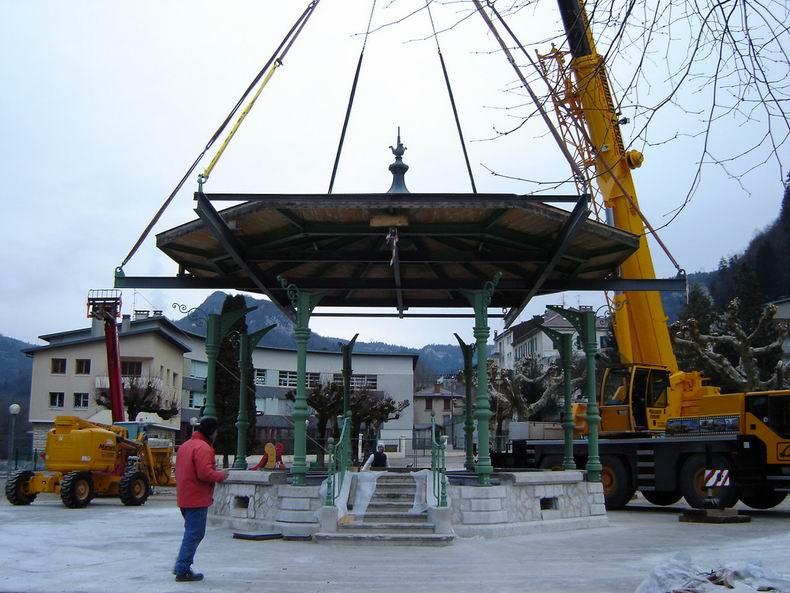 Restauration du kiosque à musique du Truchet - St-Claude 0006