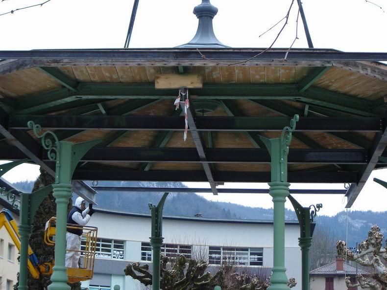 Restauration du kiosque à musique du Truchet - St-Claude 0008