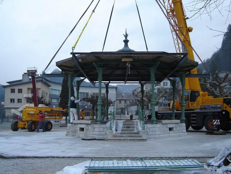 Restauration du kiosque à musique du Truchet - St-Claude 0013