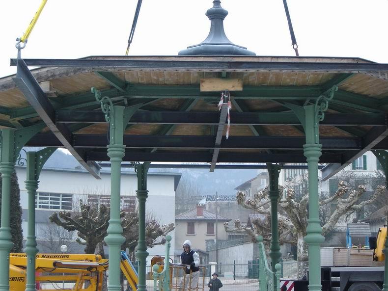 Restauration du kiosque à musique du Truchet - St-Claude 0014