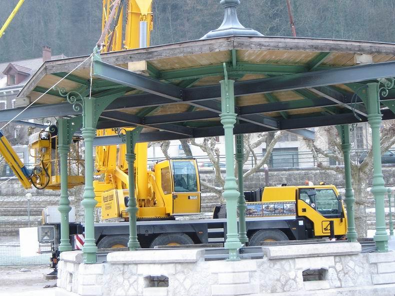 Restauration du kiosque à musique du Truchet - St-Claude 0016