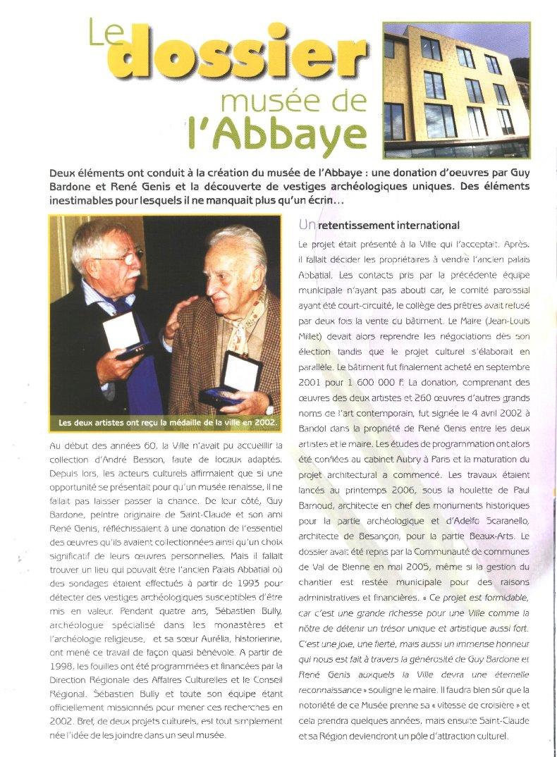 Le Musée de l'Abbaye - Donations Bardone-Genis - St-Claude A