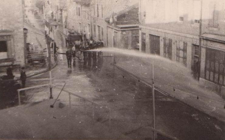 Saint-Claude - Manoeuvre de pompiers au Faubour Marcel Pompiers_2