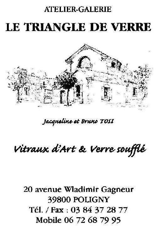 2008-08-06 : Le Triangle de Verre - Jacqueline et Bruno Tosi Carte_pro_2