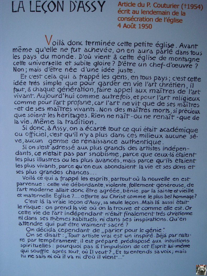 Notre Dame de Toute Grace - Le Plateau d'Assy (74) 0028
